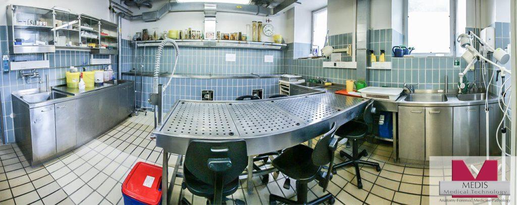 Installation: Anatomy Department of the University of Erlangen / Germany.